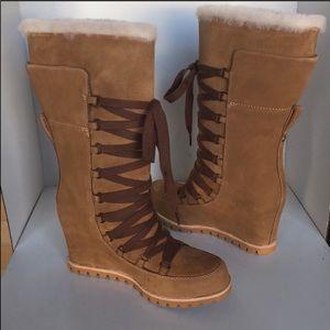 ❤️New Ugg Chestnut Mason Tall wedge Boots sz 5.5